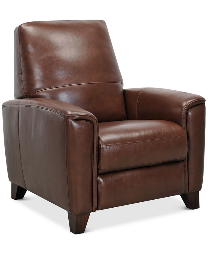 "Furniture - Brayna 35"" Leather Pushback Recliner"