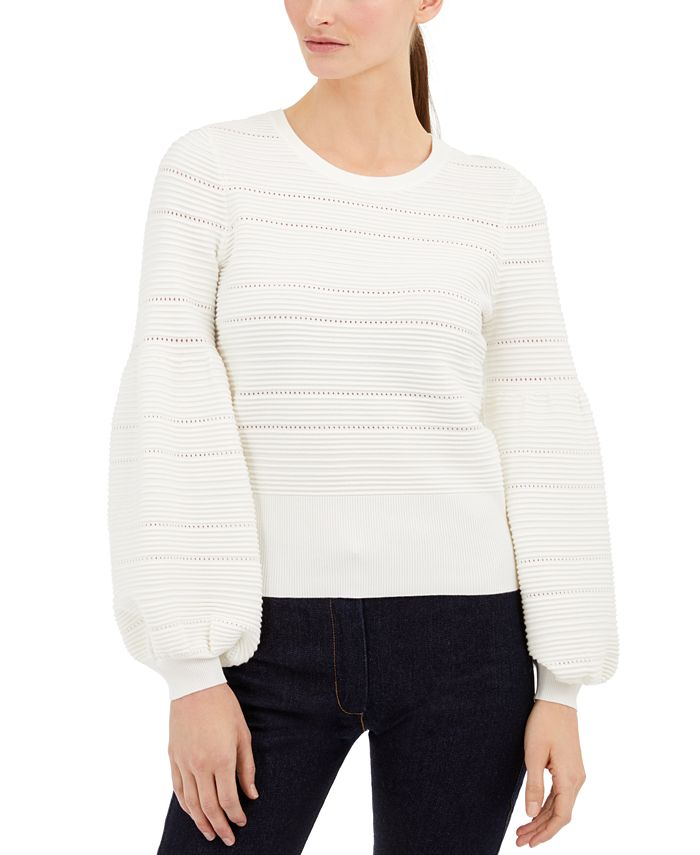 INC International Concepts - Solid Pointelle Ottoman Sweater