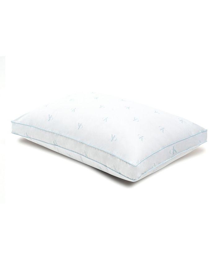 Calvin Klein - Monogram Logo Extra Firm Support Cotton Pillow, King