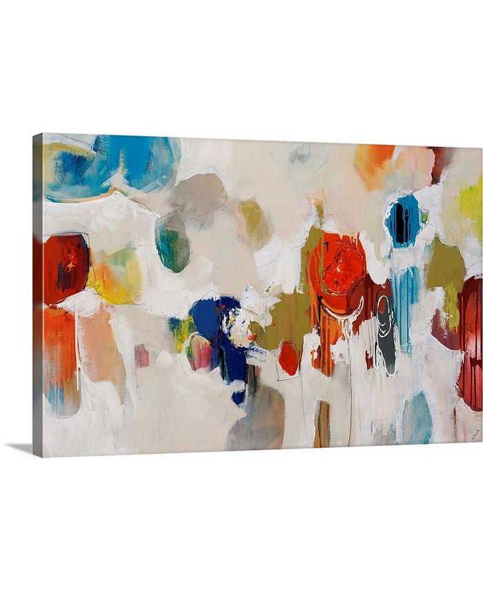"GreatBigCanvas - 30 in. x 20 in. ""Gum Drop"" by  Sydney Edmunds Canvas Wall Art"