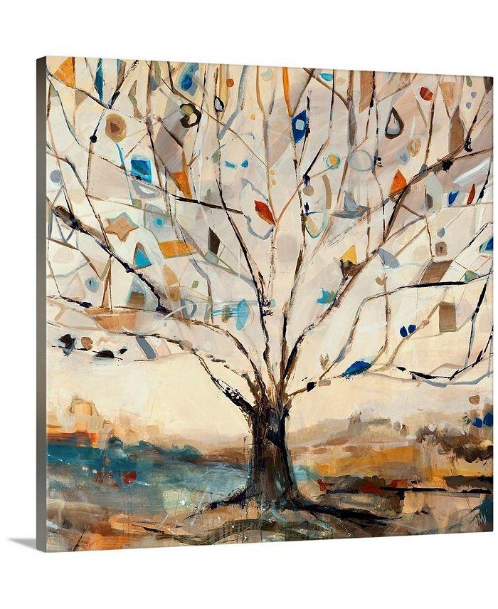"""GreatBigCanvas - 24 in. x 24 in. """"Merkaba Tree"""" by  Jodi Maas Canvas Wall Art"""