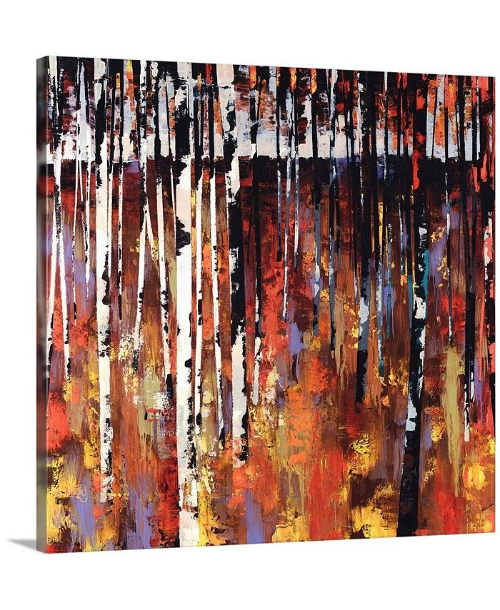 "GreatBigCanvas - 16 in. x 16 in. ""Into The Woods Again"" by  Sydney Edmunds Canvas Wall Art"