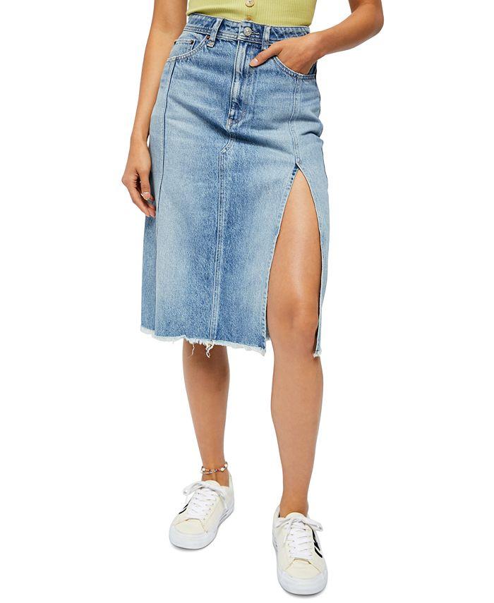 Free People - Mambo Cotton Denim Skirt
