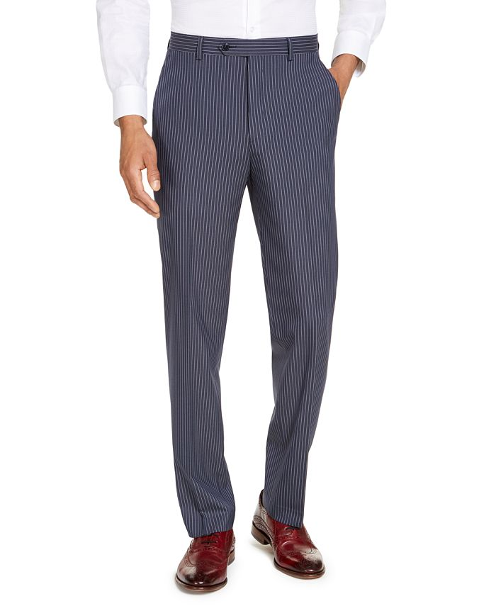 Sean John - Men's Classic-Fit Blue Pinstripe Suit Separate Pants