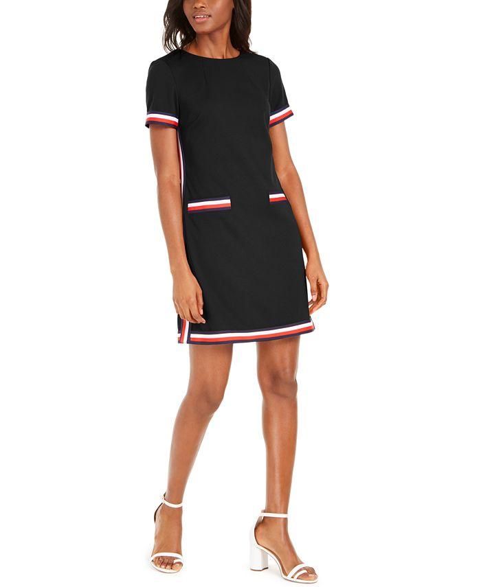 Tommy Hilfiger - Striped-Trim Dress