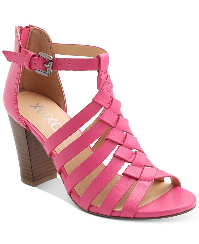 XOXO - Baxter Strappy Block-Heel Sandals