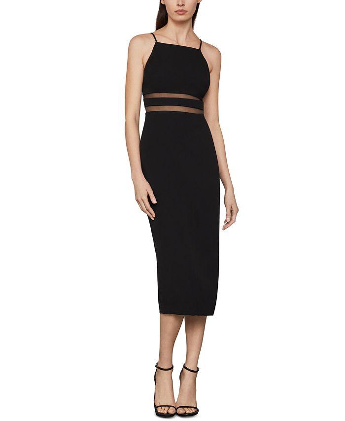 BCBGMAXAZRIA - Satin Crepe Midi Dress