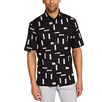 Alfani Men's Classic-Fit Stretch Embroidered Shirt