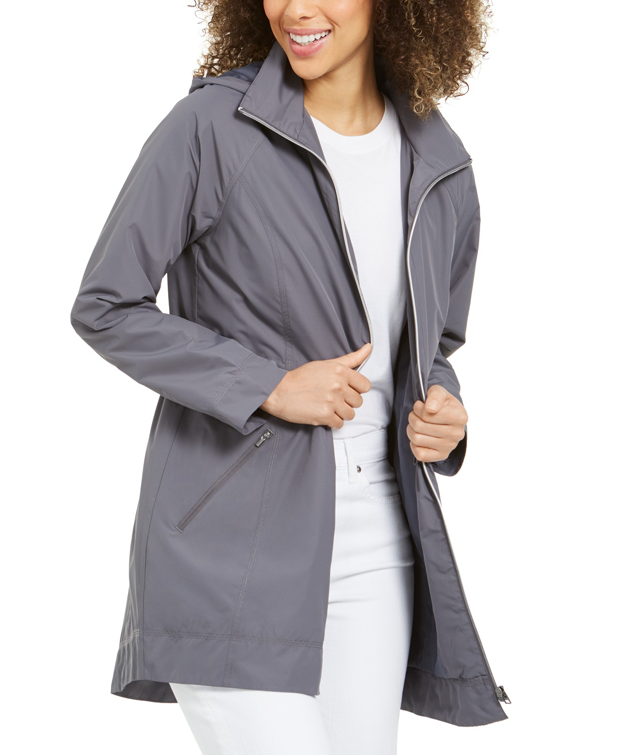 Style & Co Packable Hooded Anorak Jacket