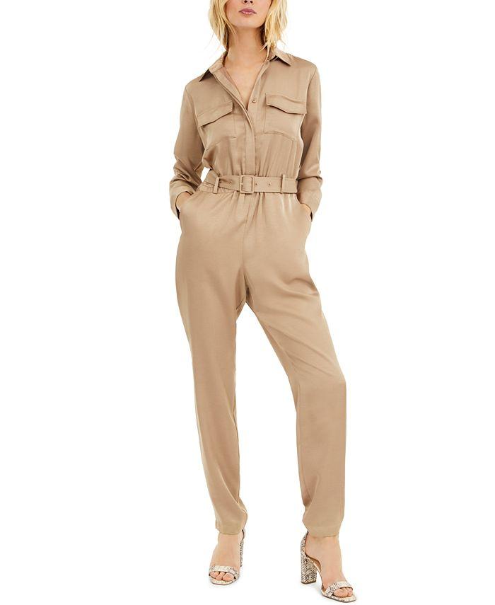 INC International Concepts - Plus Size Button-Front Jumpsuit