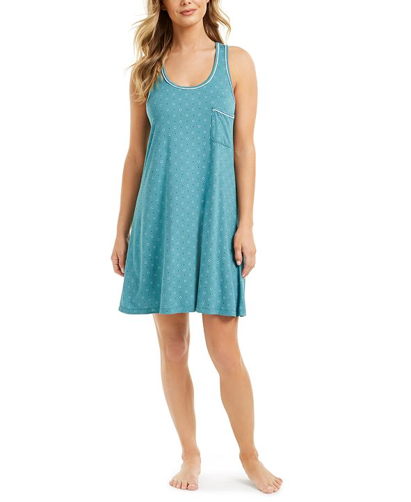Alfani Ultra-Soft Racerback Nightgown, Created for Macy's