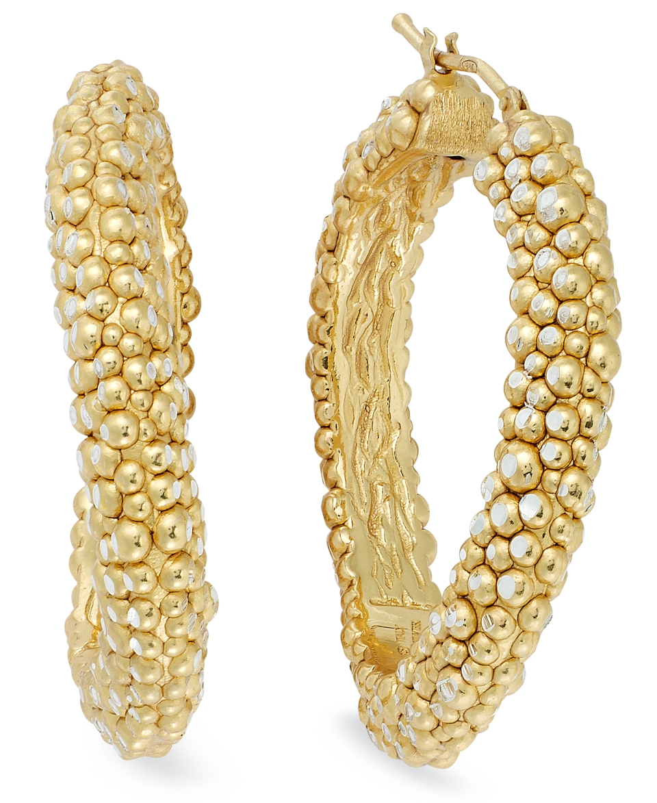 The Fifth Season by Roberto Coin 18k Gold over Sterling Silver Earrings, Large Stingray Hoops   Earrings   Jewelry & Watches