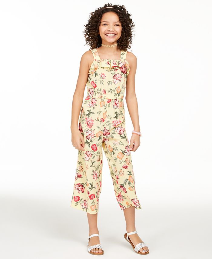 Charter Club - Big Girls Mommy & Me Floral-Print Jumpsuit, Created For Macy's