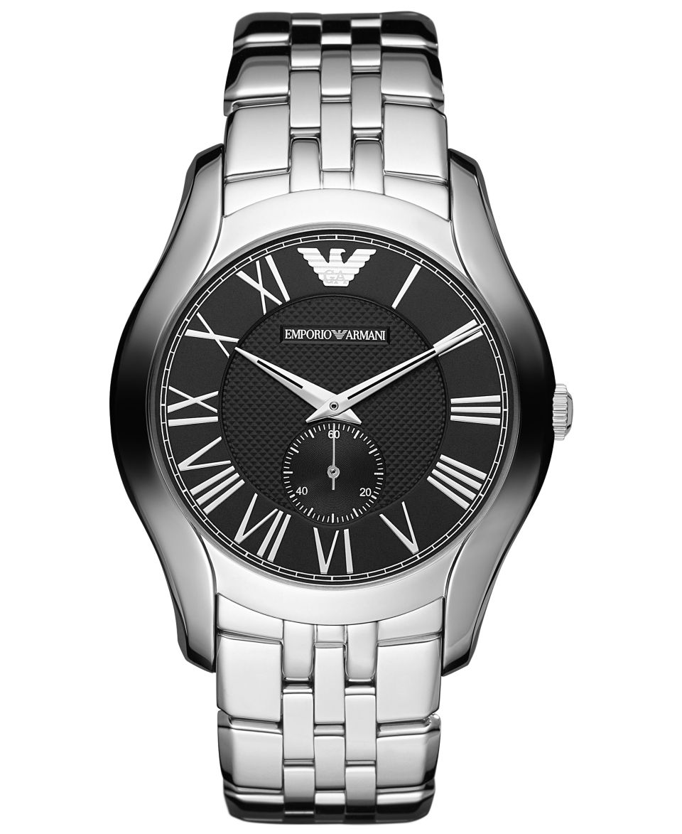 Emporio Armani Watch, Mens Stainless Steel Bracelet AR0647   Watches   Jewelry & Watches