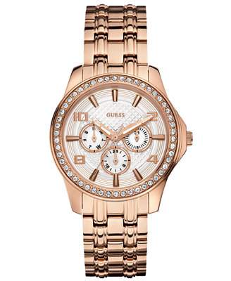 guess s gold tone stainless steel