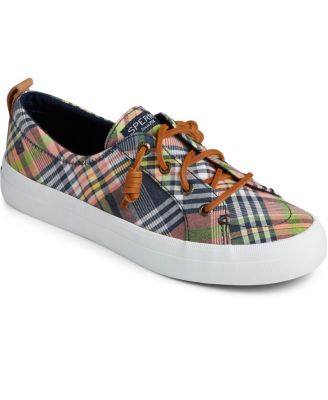 Sperry Crest Vibe Washed Plaid Sneaker