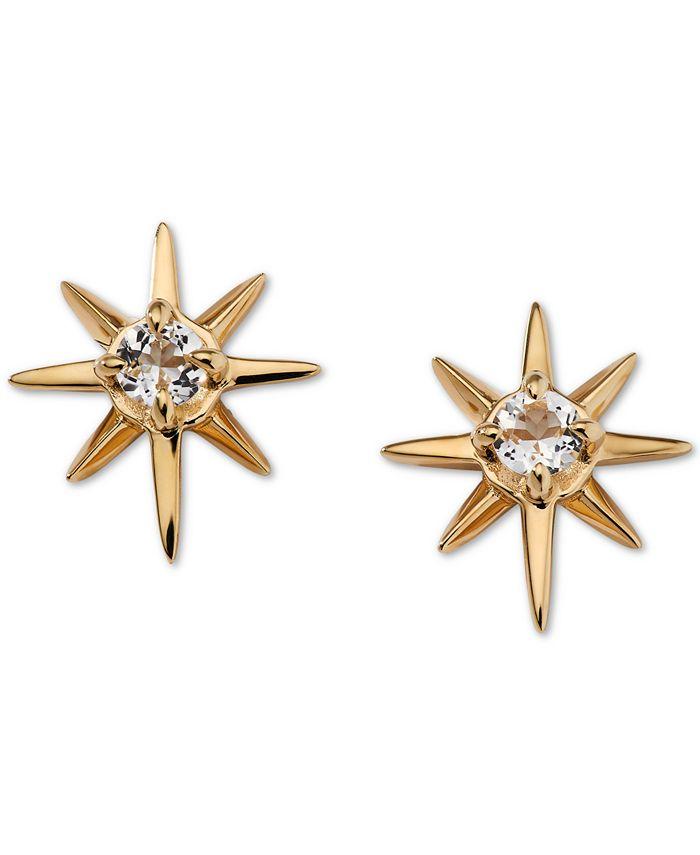 AVA NADRI - Gold-Tone Crystal Star Stud Earrings