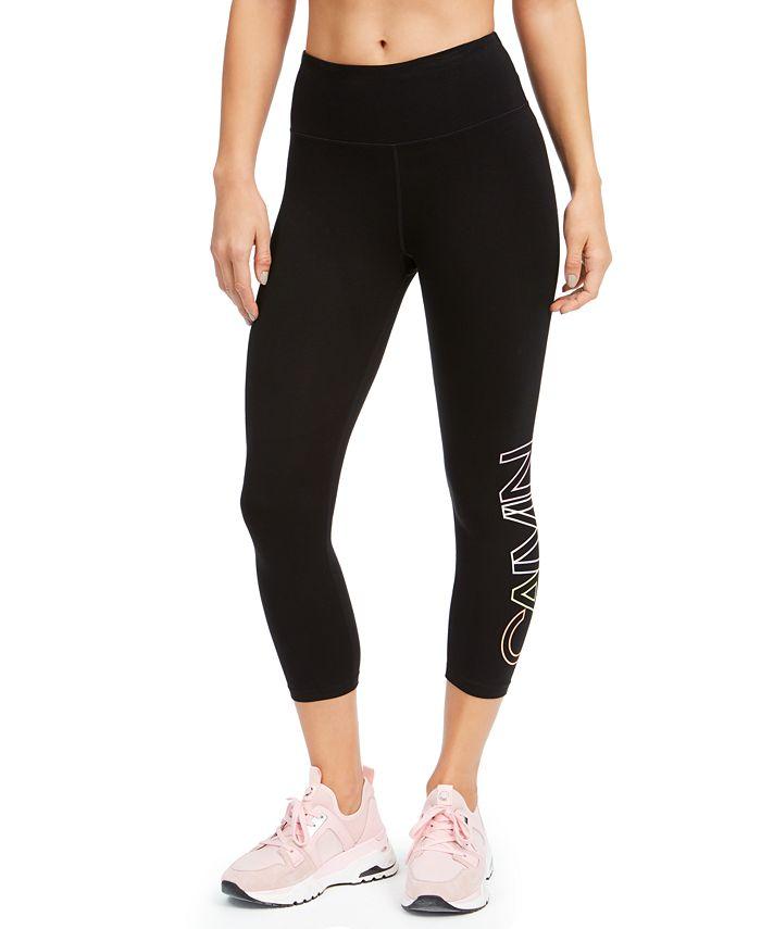 Calvin Klein - Logo High-Waist Cropped Leggings