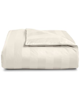 """3"""" Stripe 100% Supima Cotton 550 Thread Count Duvet Cover, Twin, Created for Macy's"""