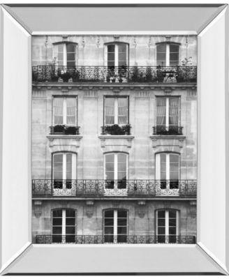 Across The Street I by Laura Marshall Mirror Framed Print Wall Art - 22