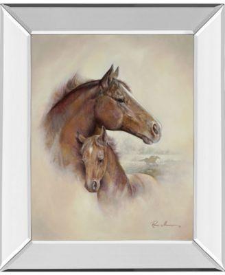 Race Horse II by Roane Manning Mirror Framed Print Wall Art, 22