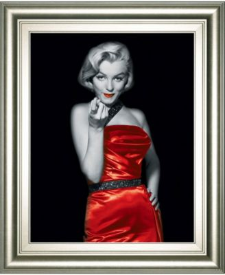 Lady in Red 1 by Chelsea Collection Framed Print Wall Art, 22