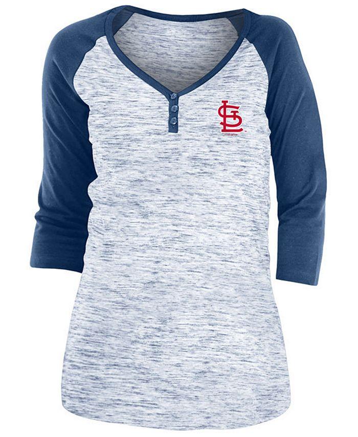 5th & Ocean - St. Louis Cardinals Women's Space Dye Raglan Shirt