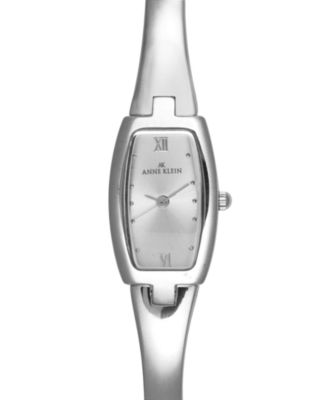 Anne Klein Watch Smooth Silver-Tone Bracelet 10-6739SVSV