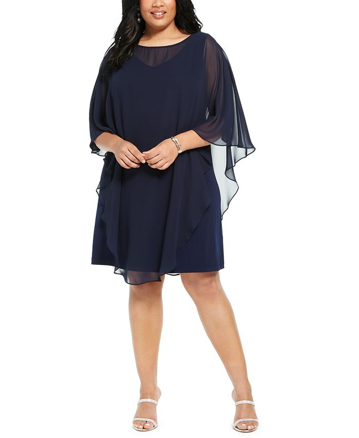 Connected - Plus Size Overlay Dress