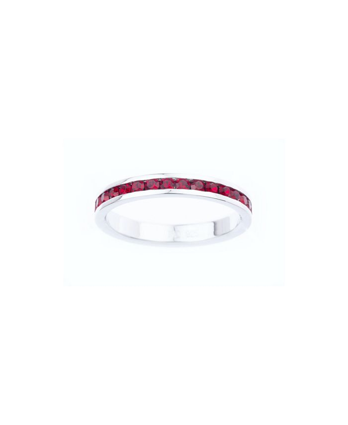 Macy's - Swarovski Crystal Birthstone Stackable ring in Sterling Silver