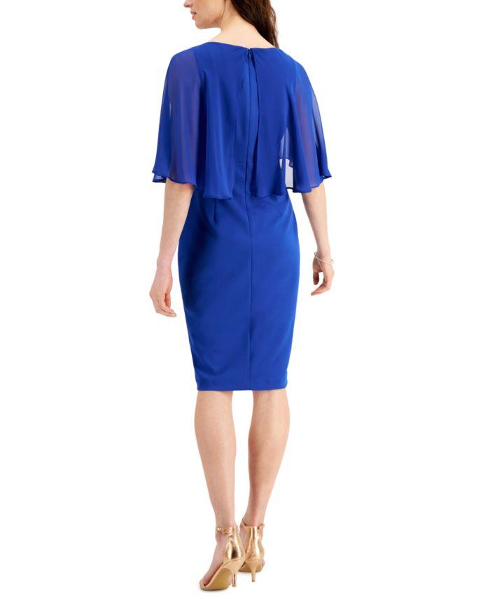 Jessica Howard Overlay Sheath Dress & Reviews - Dresses - Women - Macy's