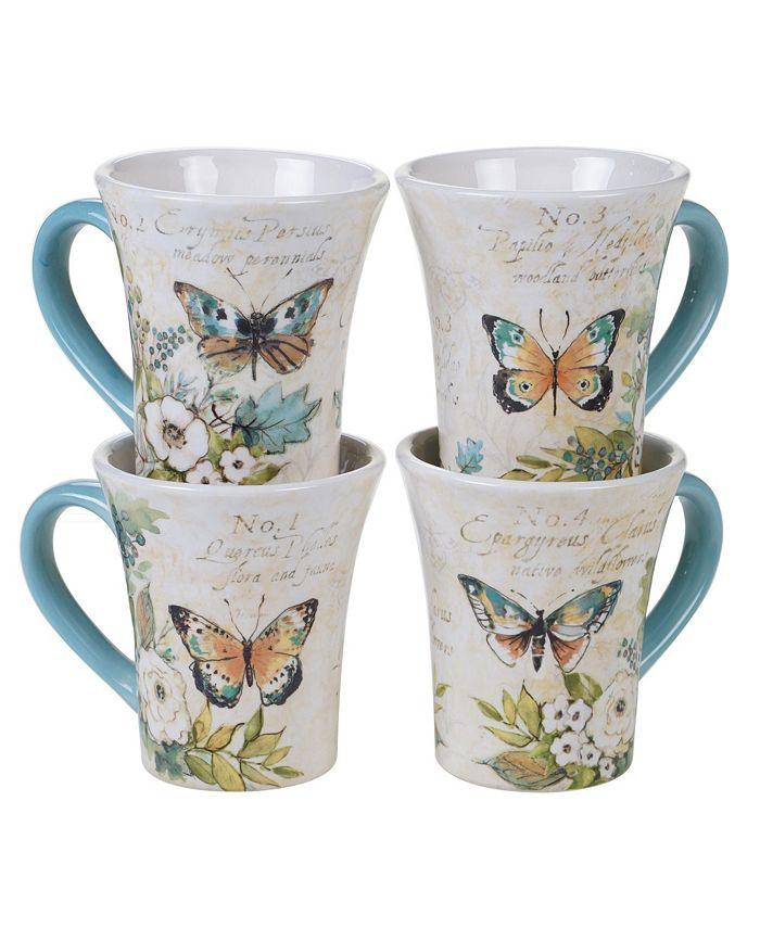 Tracy Porter - Nature Garden 4-Pc. Mugs asst.