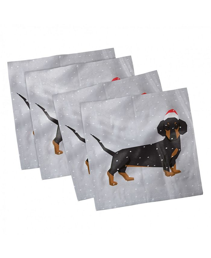 Ambesonne Dachshund Set Of 4 Napkins 18 X Reviews Table Linens Dining Macy S