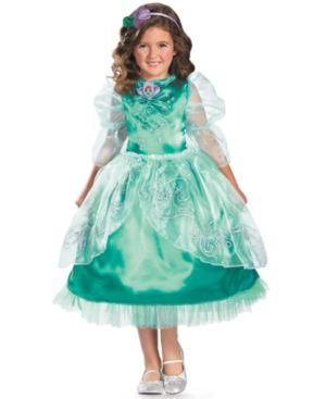 Image of Disney Kids Costume, Girls or Little Girls Ariel Sparkle Deluxe Costume