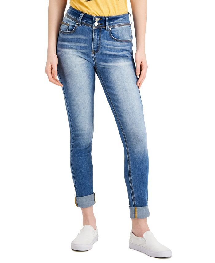 Indigo Rein - Cuffed Skinny Jeans