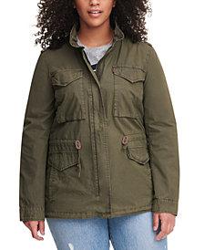 Levi's® Trendy Plus Size  Cotton Utility Jacket