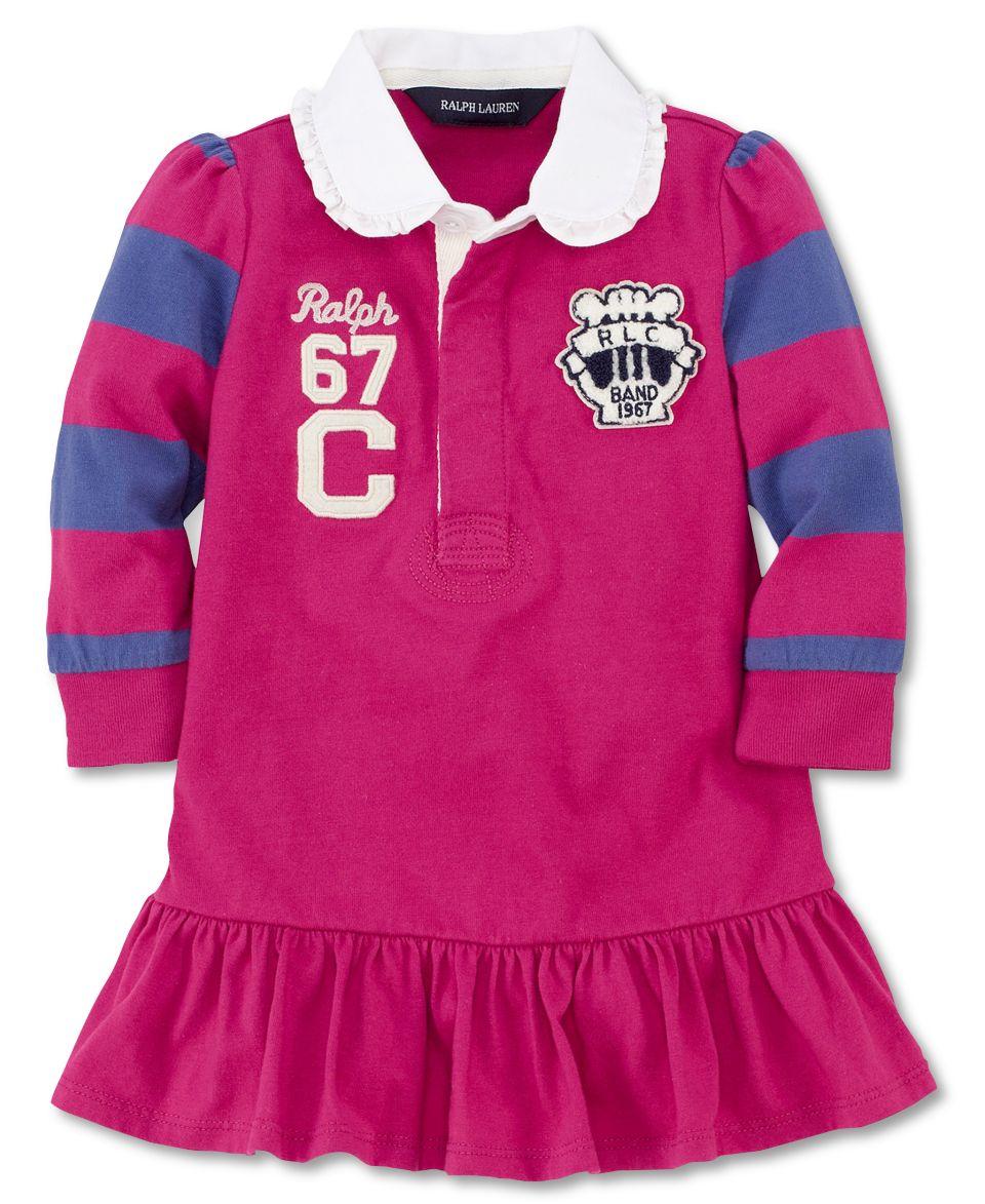 Ralph Lauren Baby Girls Dress, Baby Girls Rugby Dress   Kids