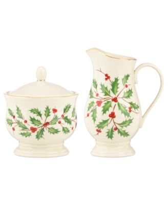 Lenox Holiday Sugar and Creamer