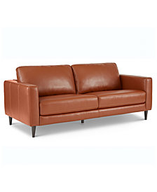 "Jennis 78"" Leather Sofa, Created for Macy's"
