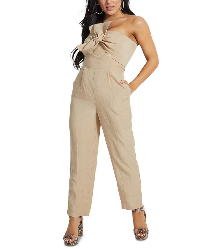 GUESS - Evelina Bow-Front Strapless Jumpsuit