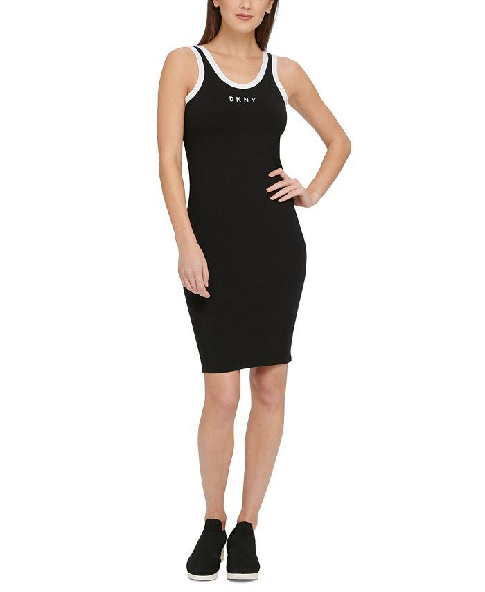 DKNY - Logo Ringer Tank Top Dress