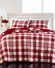 LAST ACT! Martha Stewart Collection Buffalo Plaid Quilt and Sham Collection, Created for Macy's