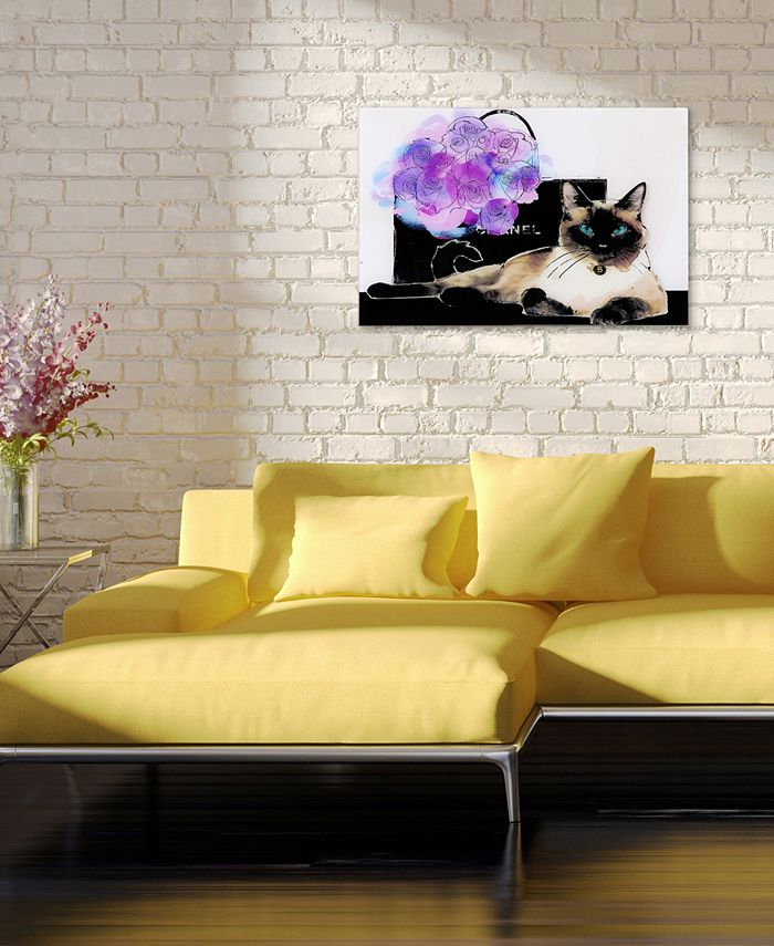 Empire Art Direct Lilac Bouquet Frameless Free Floating Tempered Glass Panel Graphic Cat Wall Art 16 X 24 X 0 2 Reviews All Wall Décor Home Decor Macy S