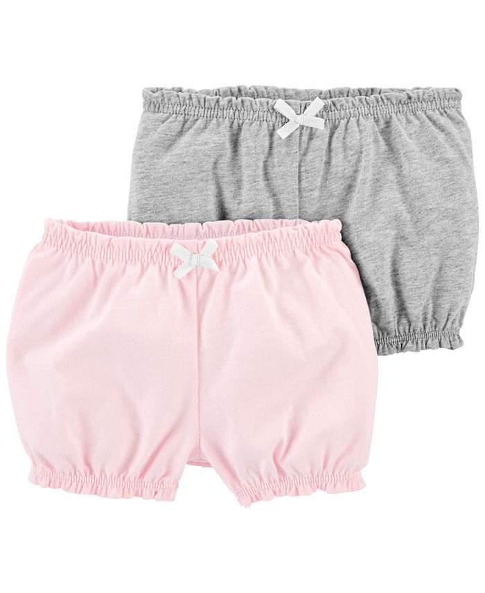 Carter's - Baby Girls 2-Pk. Cotton Pull-On Bubble Shorts