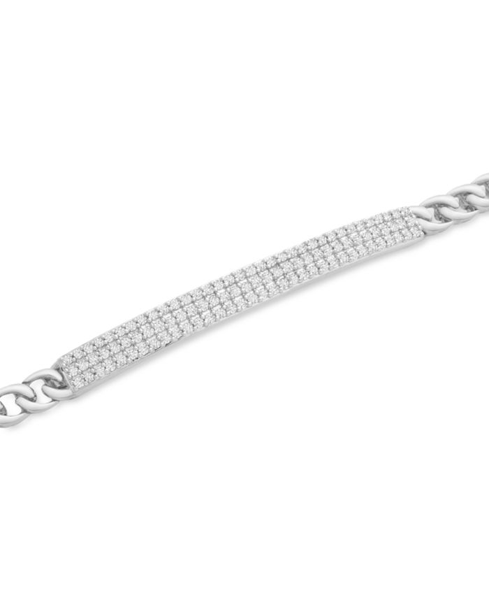 Macy's Diamond Pavé Bar Link Bracelet (1/2 ct. t.w.) in 10k Gold (Also Available in 10k White Gold) & Reviews - Bracelets - Jewelry & Watches - Macy's