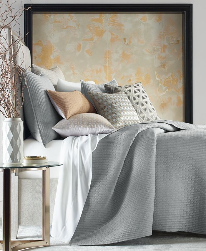 Hotel Collection - Bedford Geo King Coverlet, Created for Macy's