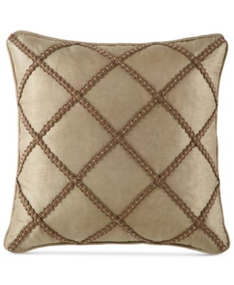 "Waterford Hazeldene 18"" Square Decorative Pillow"