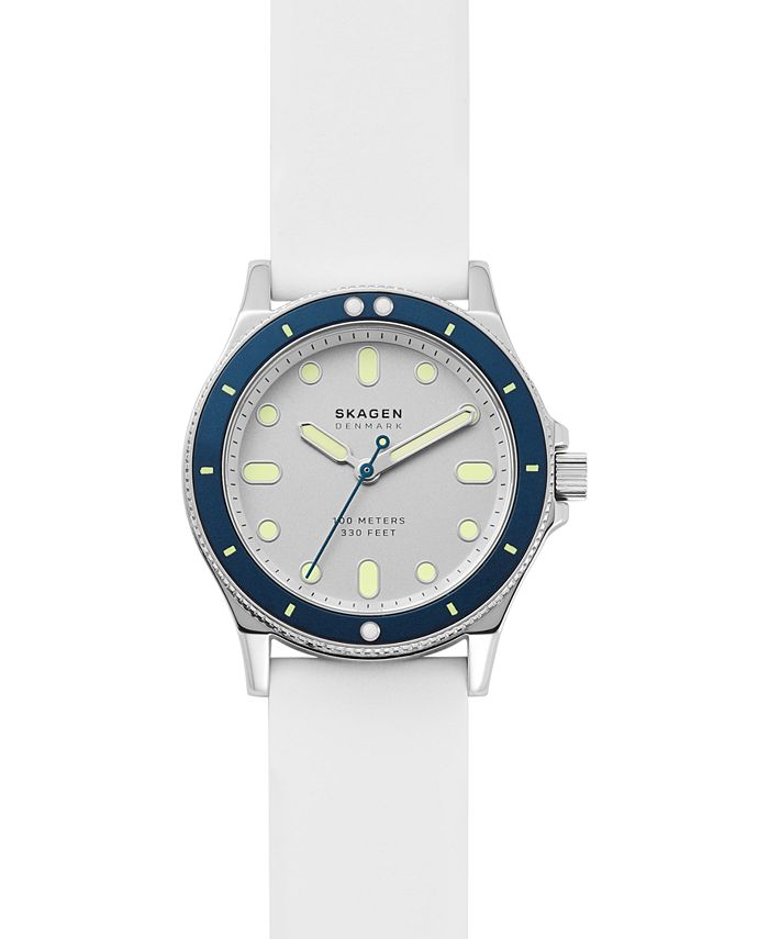 Skagen - Women's Fisk White Silicone Strap Watch 38mm