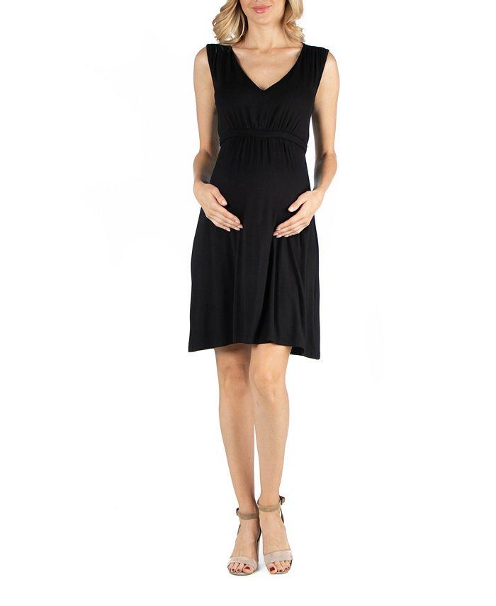 24seven Comfort Apparel Sleeveless V Neck Empire Waist Maternity Cocktail Dress Reviews Dresses Women Macy S