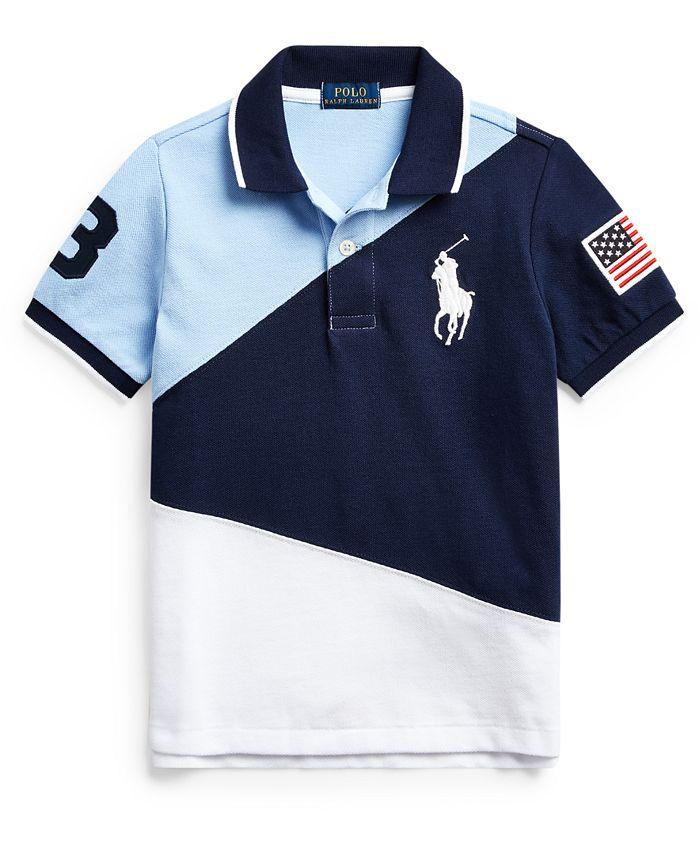 Polo Ralph Lauren Toddler Boys Big Pony Cotton Mesh Polo Shirt ...